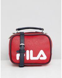 c45d5af4e5 Fila Tribeca Red Boxy Shoulder Bag With Detachable Straps in Red - Lyst