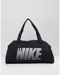 6aa0d7aa30c012 Nike Gym Club Training Duffel Bag In Black in Black - Lyst