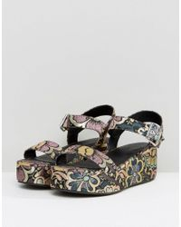 ASOS - Multicolor Toucan Wedge Sandals - Lyst