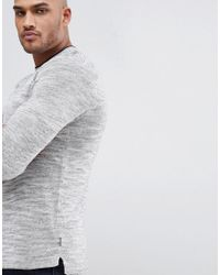 Ted Baker - Gray T For Tall Knitted Crew Neck Jumper for Men - Lyst