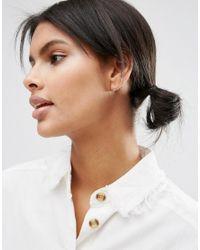 ASOS - Metallic Sterling Silver Mini Swing Earrings - Lyst
