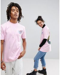 ASOS - Pink X Glaad T-shirt With Tropical Print for Men - Lyst