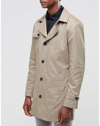 SELECTED - Natural Phill Trench Coat In Sand for Men - Lyst