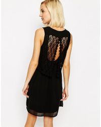 Vero Moda - Pink Lace Detail Dress - Lyst