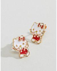 ASOS - Metallic Hello Kitty X Dabbing Earrings - Lyst
