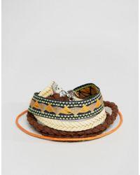 ASOS - Multicolor Aztec Bracelet Pack - Lyst