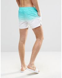ASOS - Swim Shorts In Blue Dip Dye In Short Length for Men - Lyst
