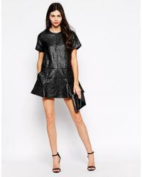 Ukulele - Black Pixie Jaquard Dress - Lyst