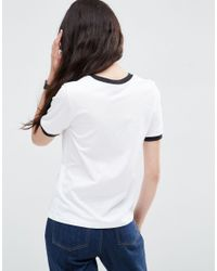 ASOS | White T-shirt With Winner Embroidery | Lyst