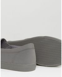 ASOS - Slip On Sneakers In Gray Block for Men - Lyst