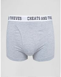 Cheats & Thieves - Gray 2 Pack Trunks for Men - Lyst