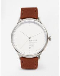 Mondaine | Brown Helvetica Leather Strap Watch | Lyst