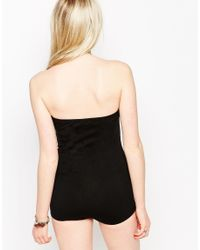 Motel - Hillary Strapless Body In Black - Lyst