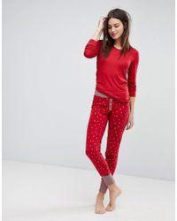 Esprit - Red Star Print Pyjama Bottoms - Lyst