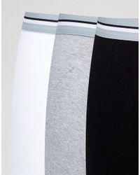 ASOS - White Trunks In Monochrome With Stripe Waistband 7 Pack for Men - Lyst