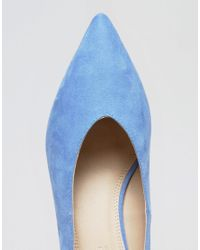ASOS - Blue Swipe Pointed Heels - Lyst