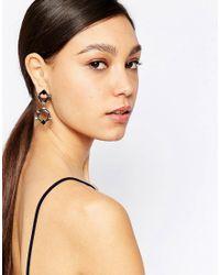 Nali   Multicolor Drop Hexagon Earrings   Lyst