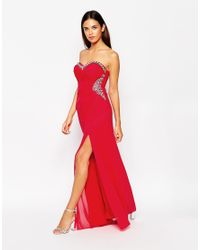 Lipsy - Multicolor Embellished Bandeau Maxi Dress - Lyst