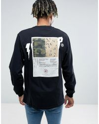 10.deep - Black 10.deep Long Sleeve T-shirt With Back Patch for Men - Lyst