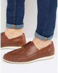 Red Tape - Brown Woven Lace Up Shoes for Men - Lyst