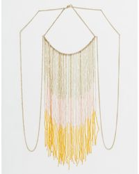 ASOS | Metallic Statement Festival Fringe Body Chain | Lyst
