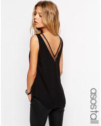 ASOS - Black Tall V Front And V Back Vest With Mesh Insert - Lyst