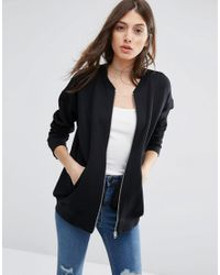 ASOS | Black The Ultimate Bomber Jacket In Jersey | Lyst