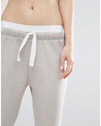 Nocozo - Gray Contrast Ribbon Sweat Joggers - Lyst