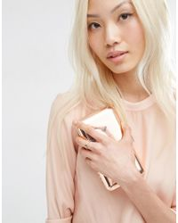 ASOS | Multicolor Rose Gold Plated Sterling Silver Etched Stone Ring | Lyst