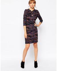 Baum und Pferdgarten - Multicolor Eldora Exclusive Eldora Dress With Cross Front In Tiger Print - Lyst