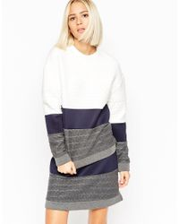 ASOS | Multicolor Cable Panel Sweat Top | Lyst
