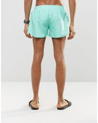 Abuze London - Short Swim Shorts In Aqua Green for Men - Lyst