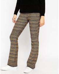ASOS | Brown Knitted Flares In Metallic Space Dye | Lyst