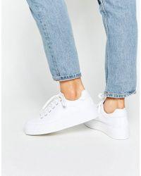 ASOS | White Day Flatform Sneakers | Lyst