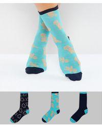 Chelsea Peers | Blue Christmas Gingerbread Sock Multipack | Lyst