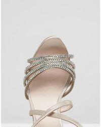 Faith - Pink Leslie Embellished Strap Heeled Sandals - Lyst