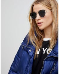 ASOS - Multicolor Cat Eye Sunglasses With Wire Highbrow And Double Nose Bridge - Lyst