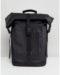 2f2bdb59eb Sandqvist Nico Roll Top Backpack in Black for Men - Lyst