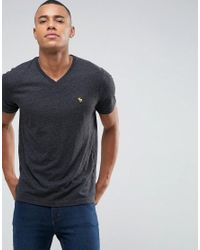 15f365ee Abercrombie & Fitch. Men's V Neck T-shirt Muscle Slim Fit Moose Logo In  Black