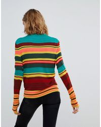 Free People - Green Show Off Your Stripes Crew Sweater - Lyst