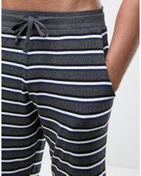 ASOS - Gray Tall Pyjama Set With Stripes for Men - Lyst