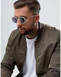 ASOS - Round Sunglasses In White for Men - Lyst