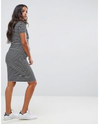 New Look - Black Nursing Stripe Dress - Lyst