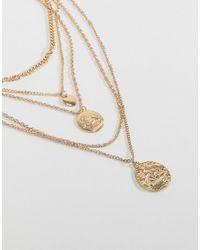 Stradivarius - Metallic Multi Gold Chain Necklace - Lyst