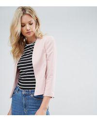 New Look | Pink Crop Blazer | Lyst