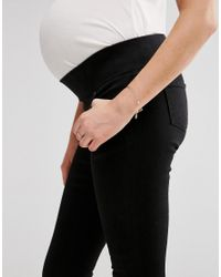 ASOS - ''sculpt Me'' Premium Jean Jegging In Black With Under The Bump Waistband - Lyst
