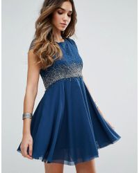 Free People - Blue Rock Candy Embllished Party Dress - Lyst