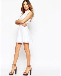 ASOS | White High Neck Empire Dress | Lyst
