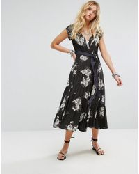 Free People - Black All I Got Maxi Dress In Floral Print - Lyst