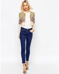 ASOS - Multicolor Jacket With Sequin Embellishment - Lyst